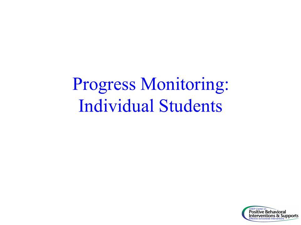 Progress Monitoring: Individual Students