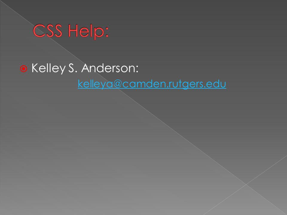 Kelley S. Anderson: kelleya@camden.rutgers.edu