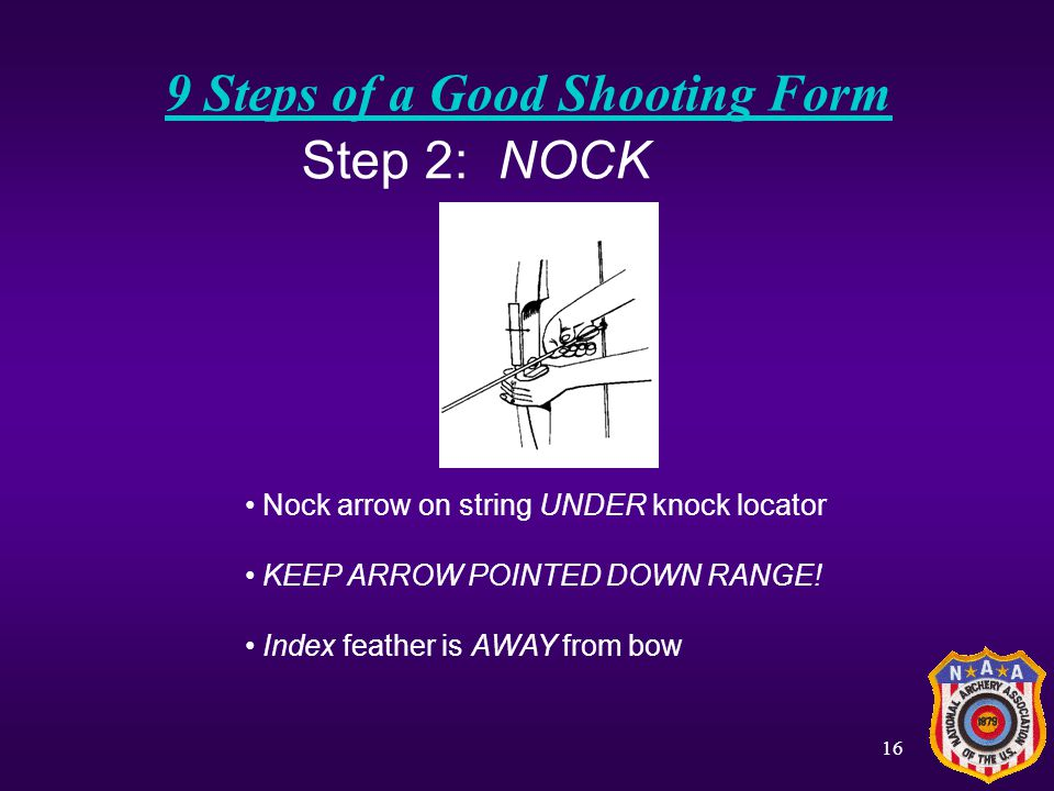 15 9 Steps of a Good Shooting Form Step 1: STANCE One foot on either side of the line Feet should be shoulder-width apart Weight should be equally dis