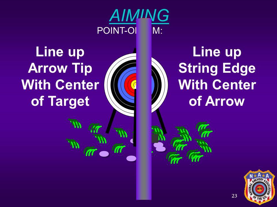 22 Step 7: AIMING INSTINCTIVE: + Aim like you would aim a snowball!