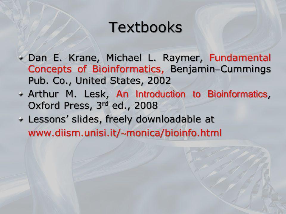 Textbooks Dan E. Krane, Michael L.