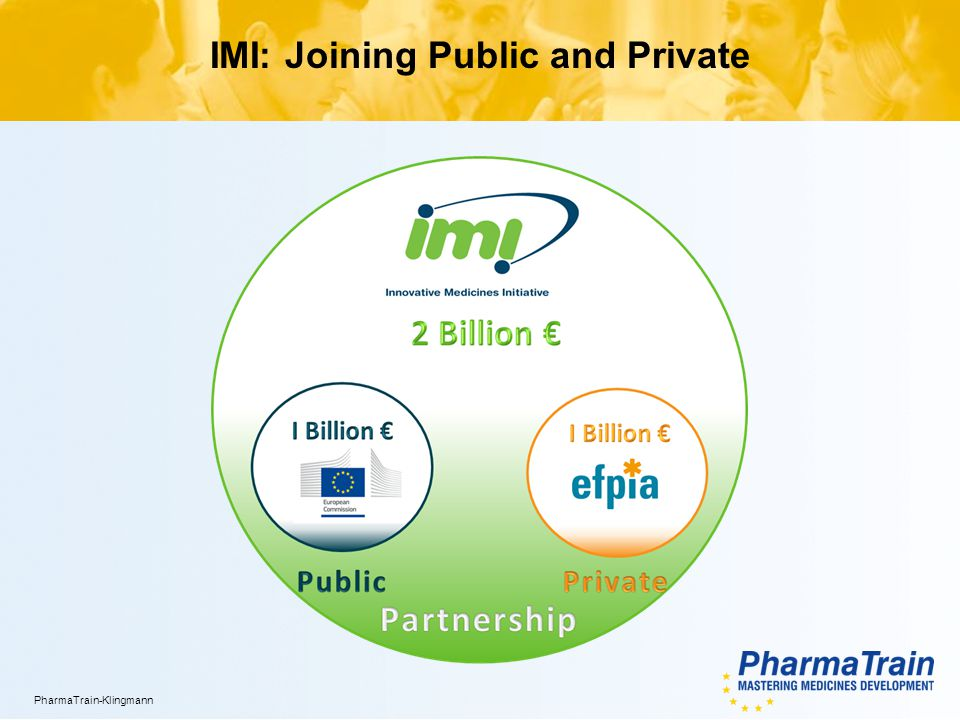 XX.YY.2012/4 PharmaTrain-Klingmann IMI: Joining Public and Private