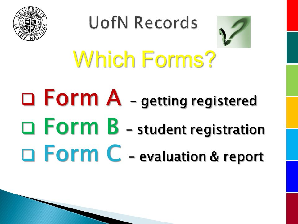 Which Forms.