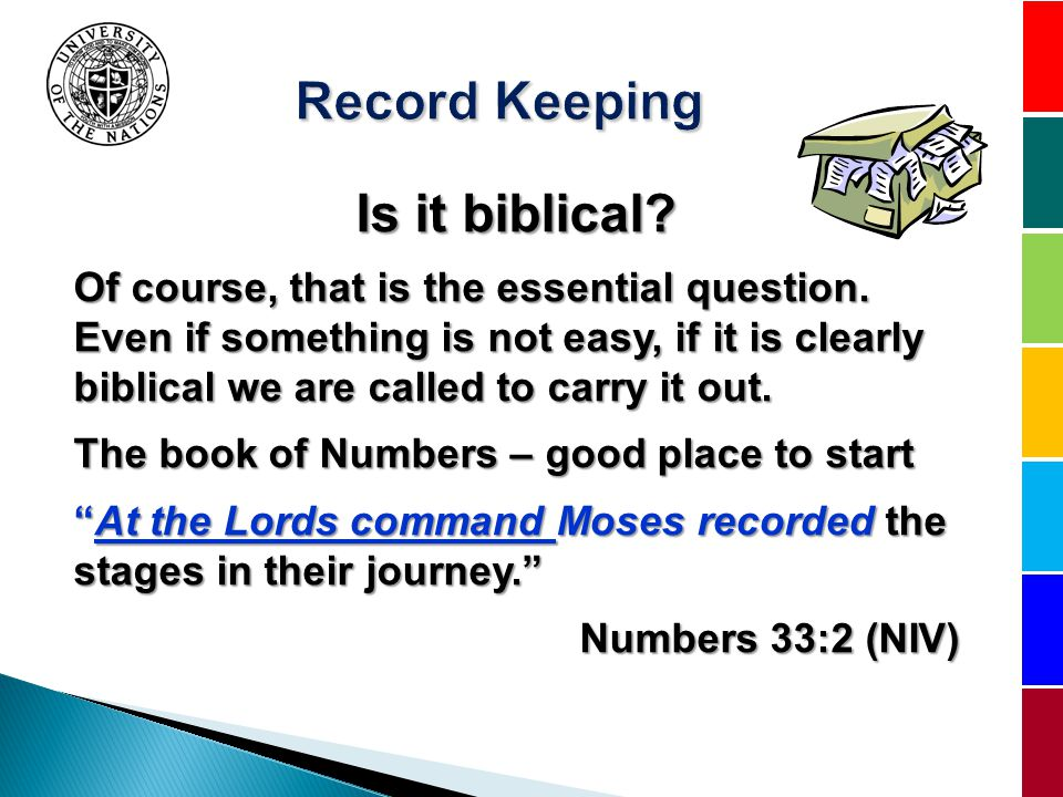 Is it biblical. Of course, that is the essential question.