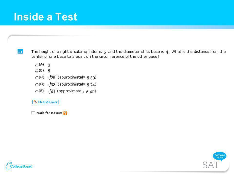 Inside a Test