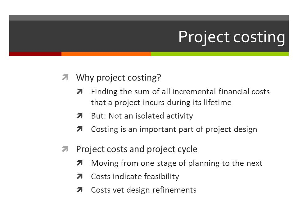 Choosing among projects CostsBenefitsNet benefits Project A3129 Project B92819 Project C484 Project D792 Projects C and D92314 Project E1210-2 Project F1312 Source: SOAS short course scheme