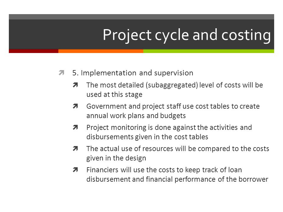 With and without project scenarios Potential without project scenarios: Slow production increase (project aims to intensify production and thus achieve a greater increase) Production decline without investment (project aims to prevent decrease in production, or increase it)