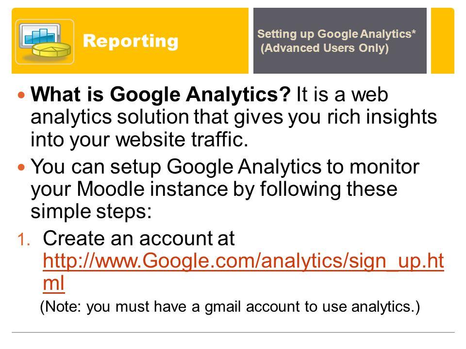 Reporting What is Google Analytics.
