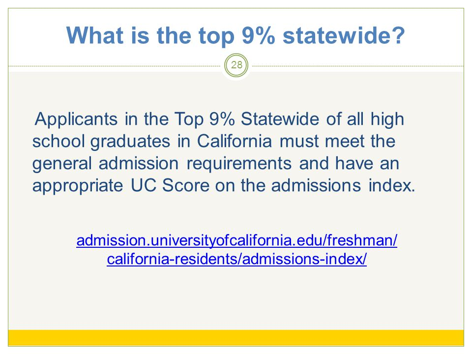 What is the top 9% statewide.