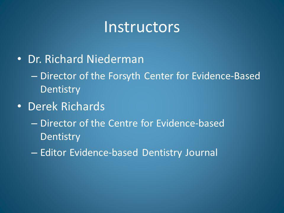 Instructors Dr.
