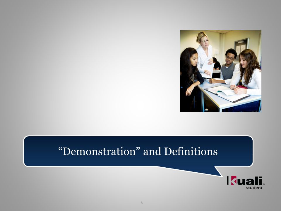 3 Demonstration and Definitions