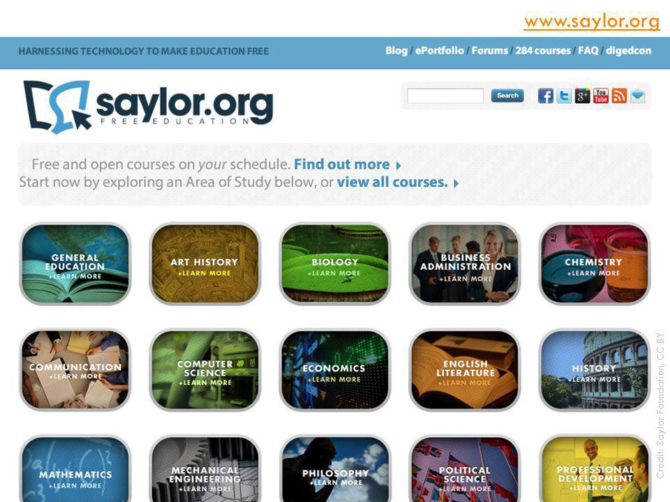 Saylor.org Homepage   16 Credit: Saylor Foundation, CC BY