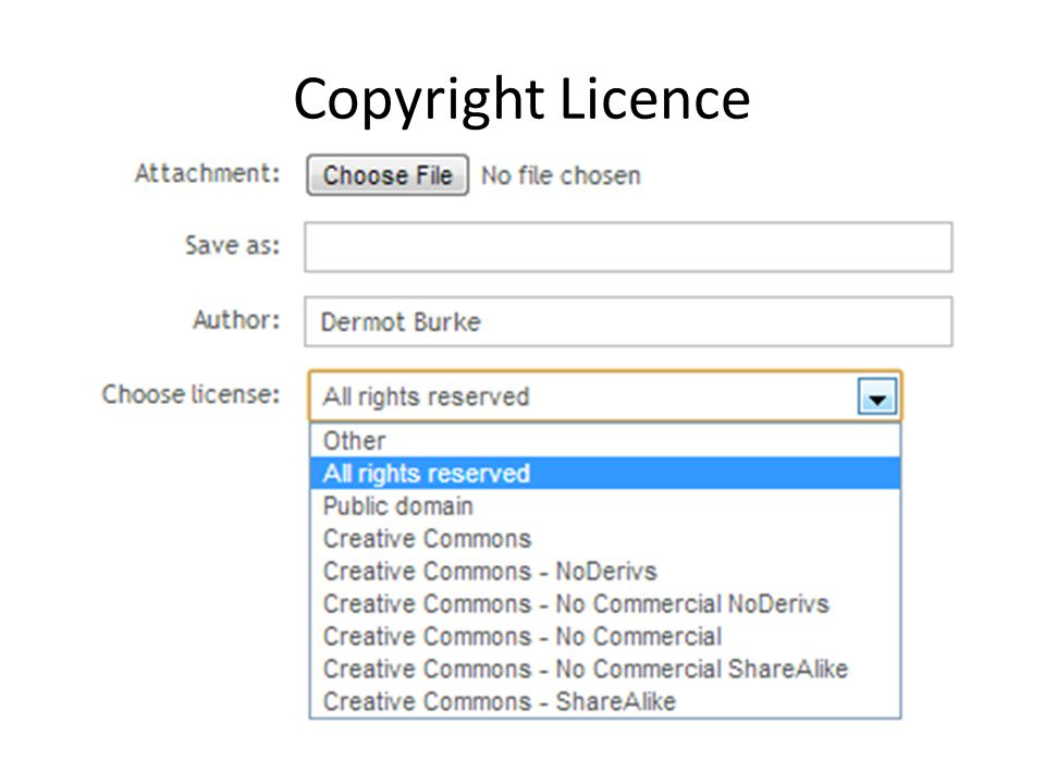 Copyright Licence