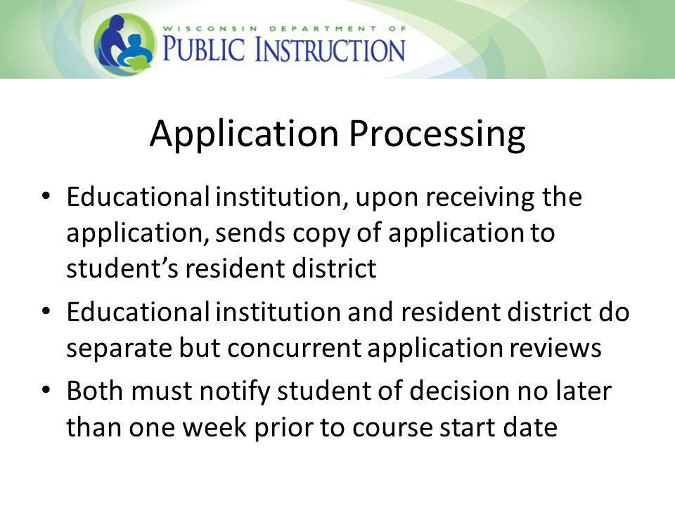Educational Institution Review Does student meet institutions entrance criteria.
