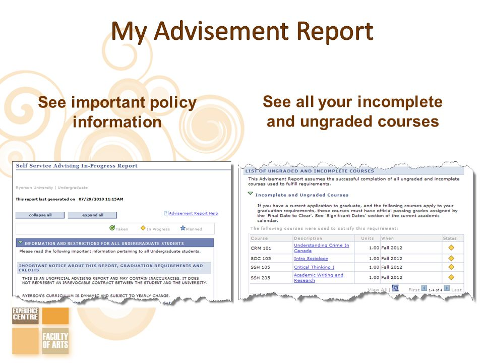 See important policy information See all your incomplete and ungraded courses