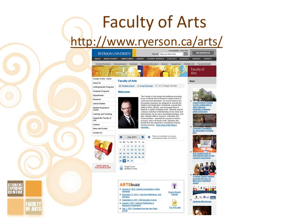 Faculty of Arts http://www.ryerson.ca/arts/
