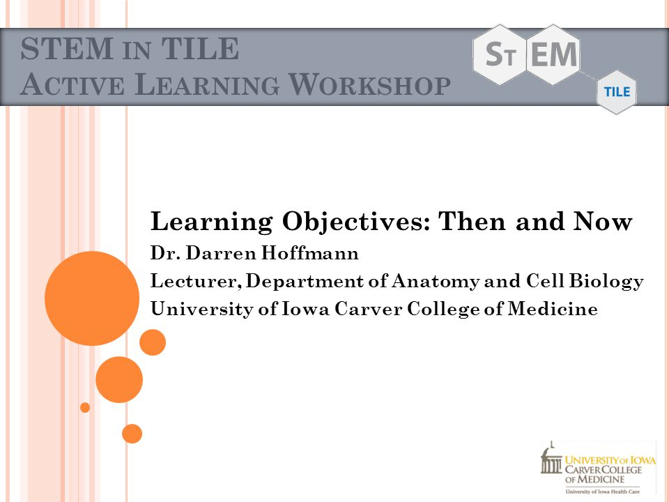 G OALS FOR THIS WORKSHOP Establish a way of defining understanding for ourselves and our students Practice Analyzing and Applying principles of Understanding and Learning Objectives Discuss ways that these tools can be useful/not useful in our courses and overall curriculum