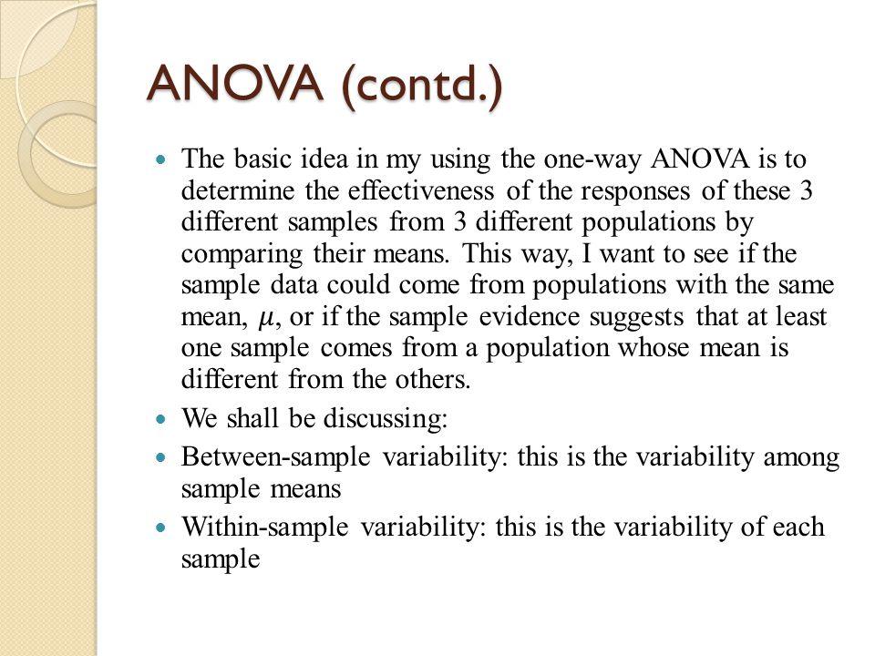 ANOVA (contd.)