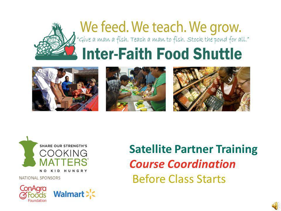 Course Coordination Host Agencies Course Materials Volunteers