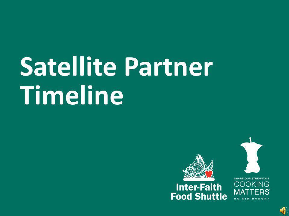 Satellite Partner Timeline