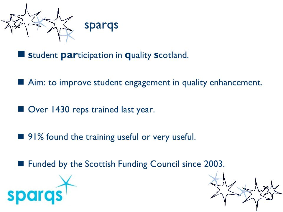 sparqs s tudent par ticipation in q uality s cotland.