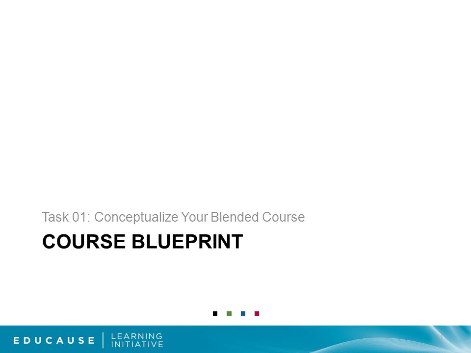 COURSE BLUEPRINT Task 01: Conceptualize Your Blended Course 14