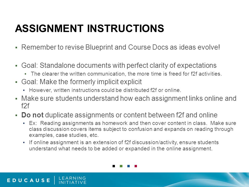 ASSIGNMENT INSTRUCTIONS Remember to revise Blueprint and Course Docs as ideas evolve.