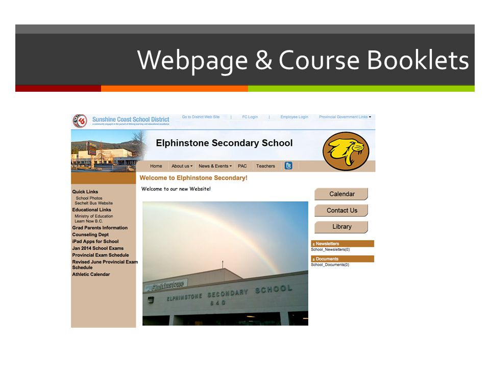 Webpage & Course Booklets