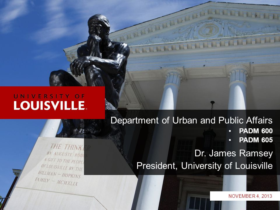 LOUISVILLE.EDU 12 We know that nationally times have been unprecedented…11 post WWII recessions *Lowest level during the current recession.