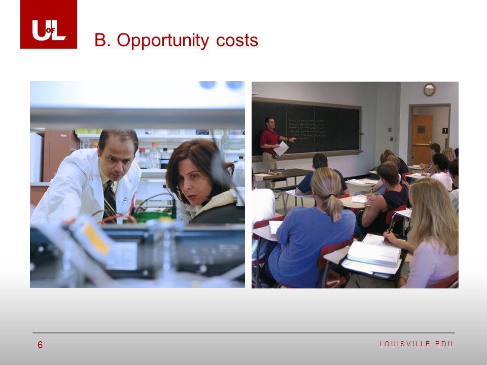 LOUISVILLE.EDU 6 B. Opportunity costs