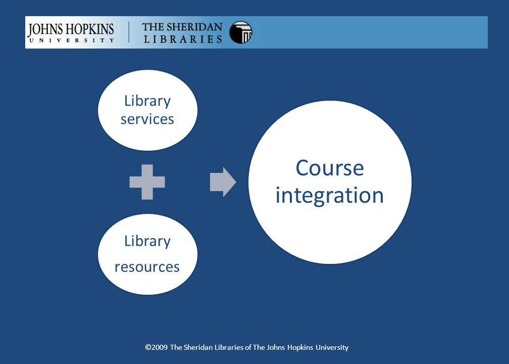 Library services Library resources Course integration