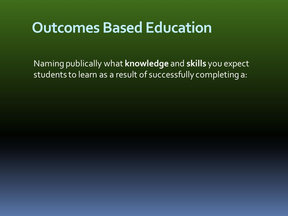 Course Outcomes If you teach a case – or explore some aspect of a case – that does not help students achieve a named learning outcome… a) you would ask yourself why you are doing this, and b) your answer might help you either change what you do in class, or revisit and refine the learning outcomes.