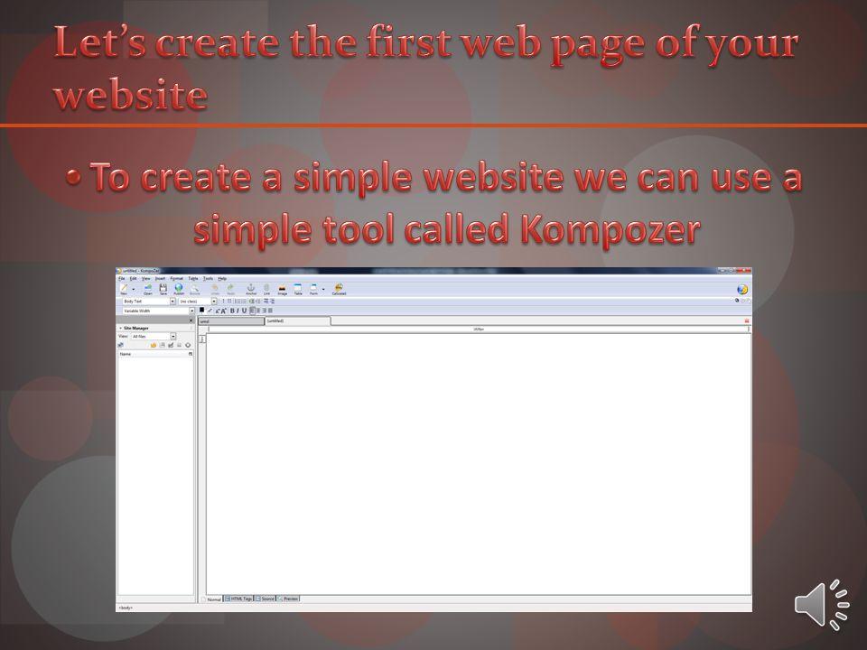 Notepad Macromedia Dreamweaver MX Kompozer Microsoft Word 2010 Microsoft PowerPoint 2010