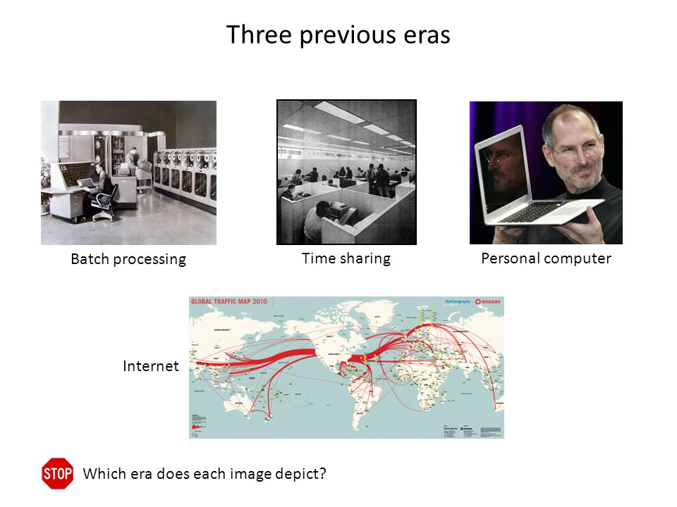 Three previous eras Which era does each image depict.