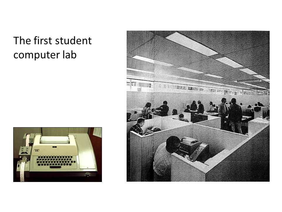 The first student computer lab