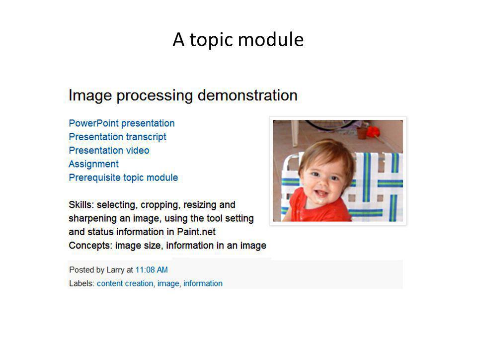 A topic module