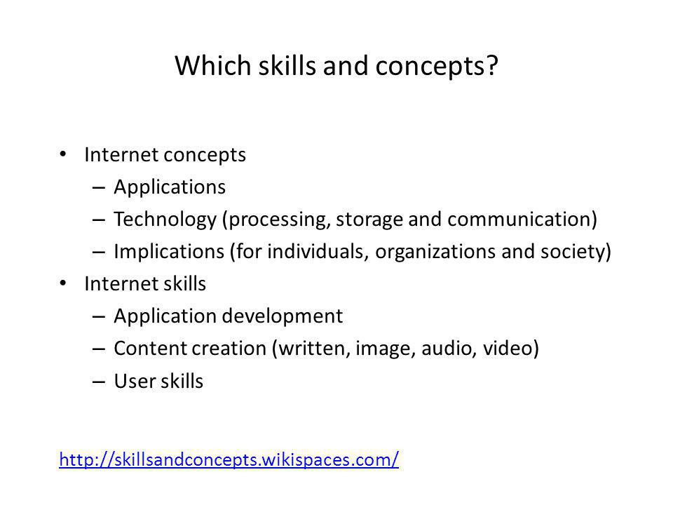 http://skillsandconcepts.wikispaces.com/ Which skills and concepts.