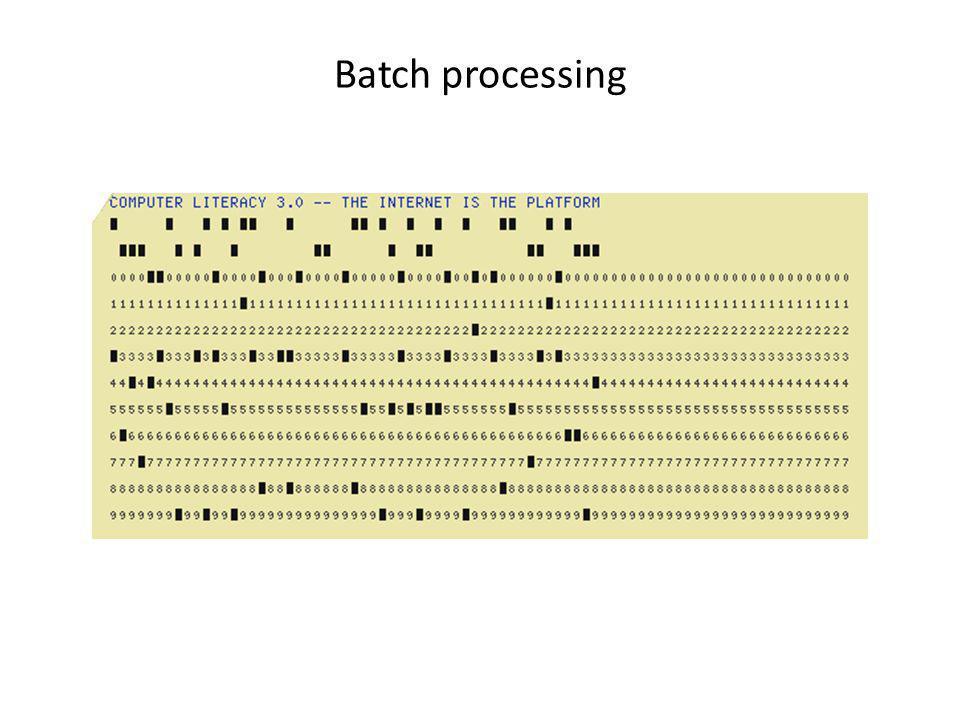 Batch processing
