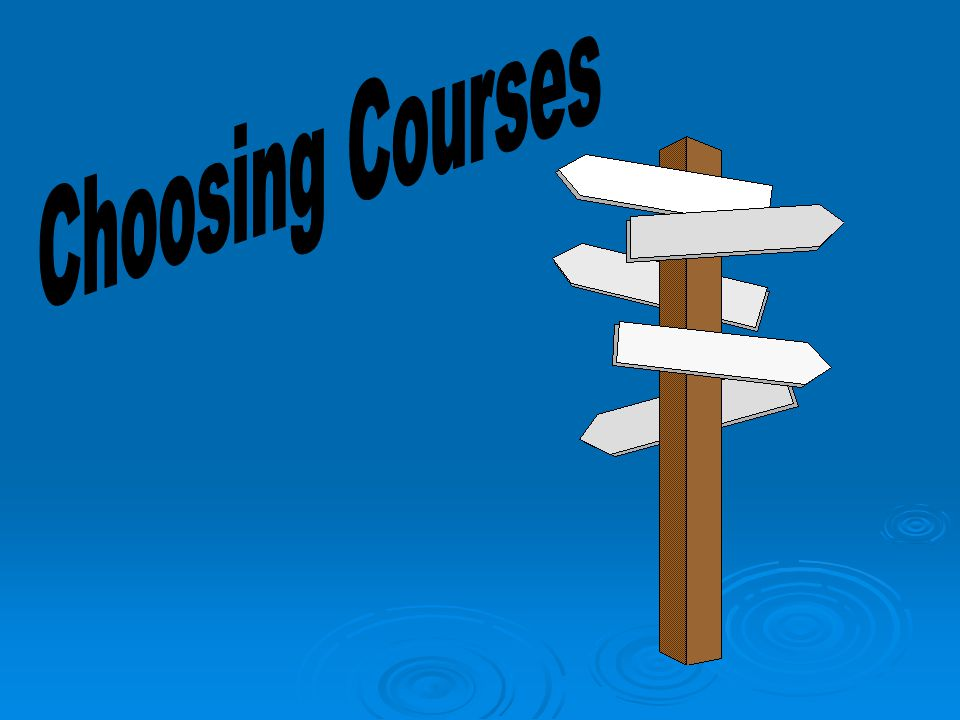 MATH DECISION CHOOSING COURSES BALANCING YOUR LIFE COURSE SELECTION SHEET AND BOOK TOPICS ON-LINE GUIDANCE WEBSITE