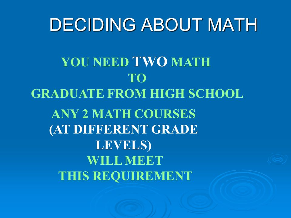 Math Options