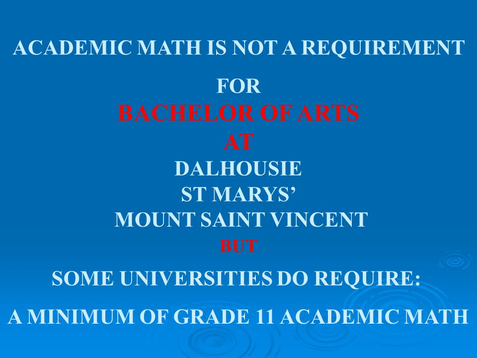 THINKING OF UNIVERSITY WHICH MATH YOU WILL NEED DEPENDS UPON WHAT YOU WANT TO STUDY…