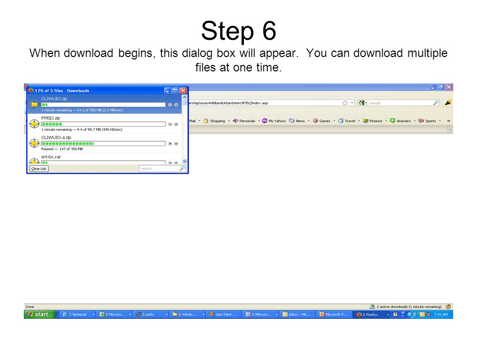 Step 7 When the download is complete, browse to your download folder.
