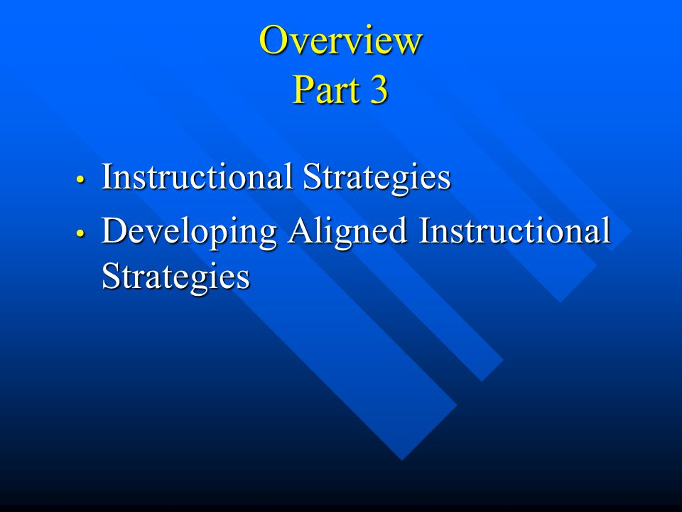Overview Part 2 Review of Concept Maps Review of Concept Maps Writing Learning Outcomes Writing Learning Outcomes Developing Learning Outcomes Develop