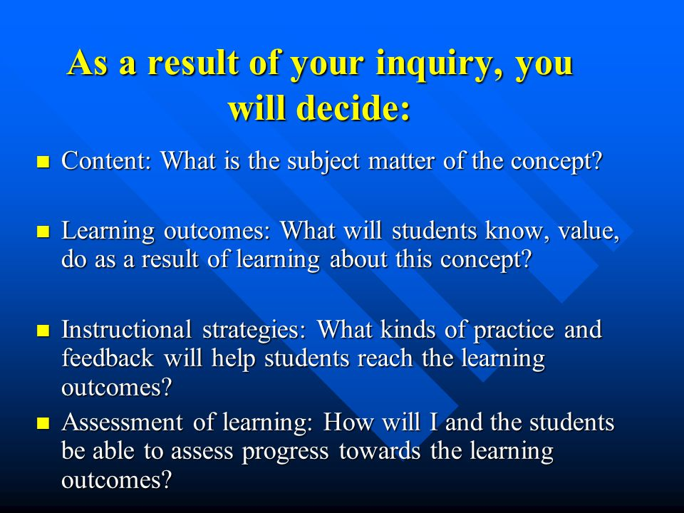 Formative Assessment: Formative Assessment: –Assessment activities that contribute to learning as well as indicating the degree of learning –Used by students and instructors to inform them of their progress and enable adjustments –May be graded or ungraded –Range from formal to informal Summative Assessment Summative Assessment –Assessment activities that occur at the end of a period of learning and are used to obtain a macro view of learning and to determine the level of learning.