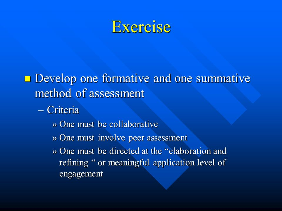 The effect of few assessment occasions More difficult for the students to gauge their strengths and weaknesses and therefore they are less able to imp