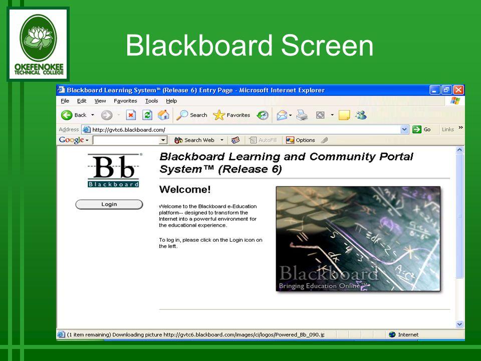 Blackboard Screen