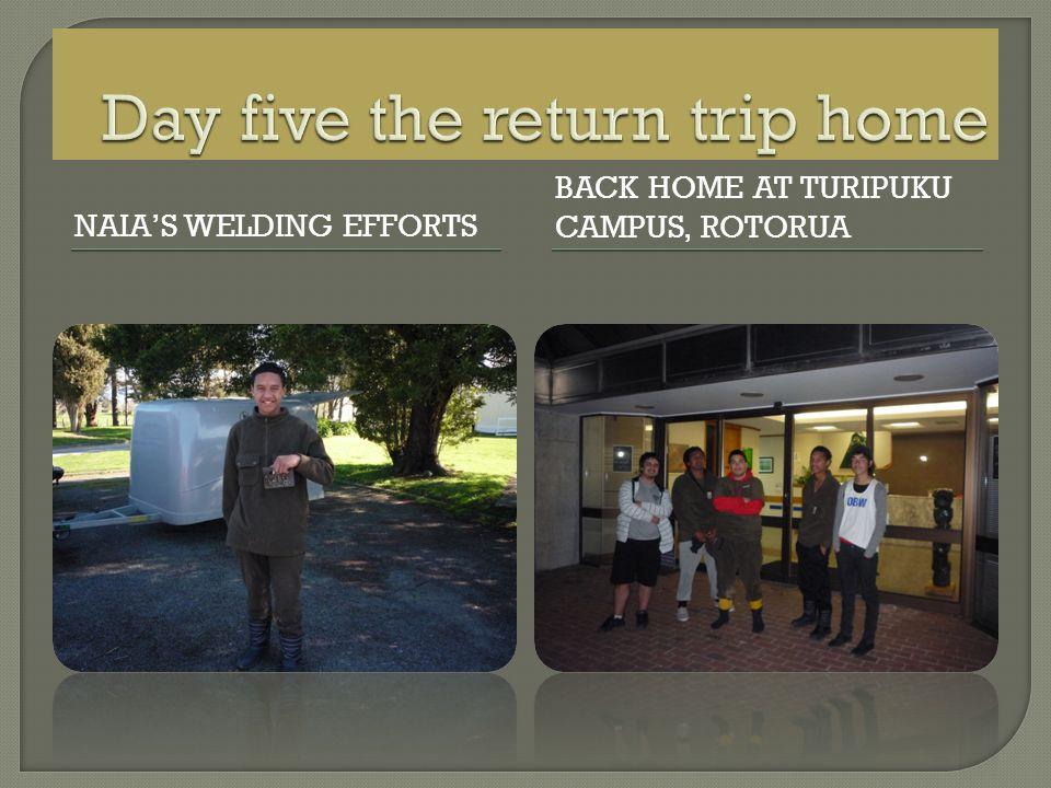 NAIAS WELDING EFFORTS BACK HOME AT TURIPUKU CAMPUS, ROTORUA