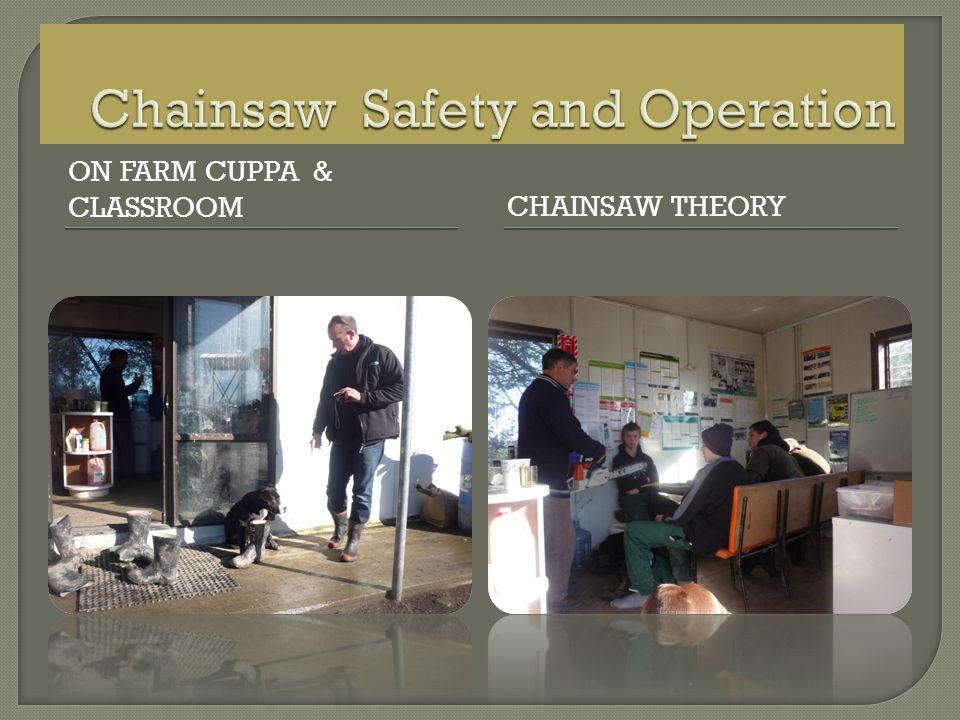 ON FARM CUPPA & CLASSROOM CHAINSAW THEORY