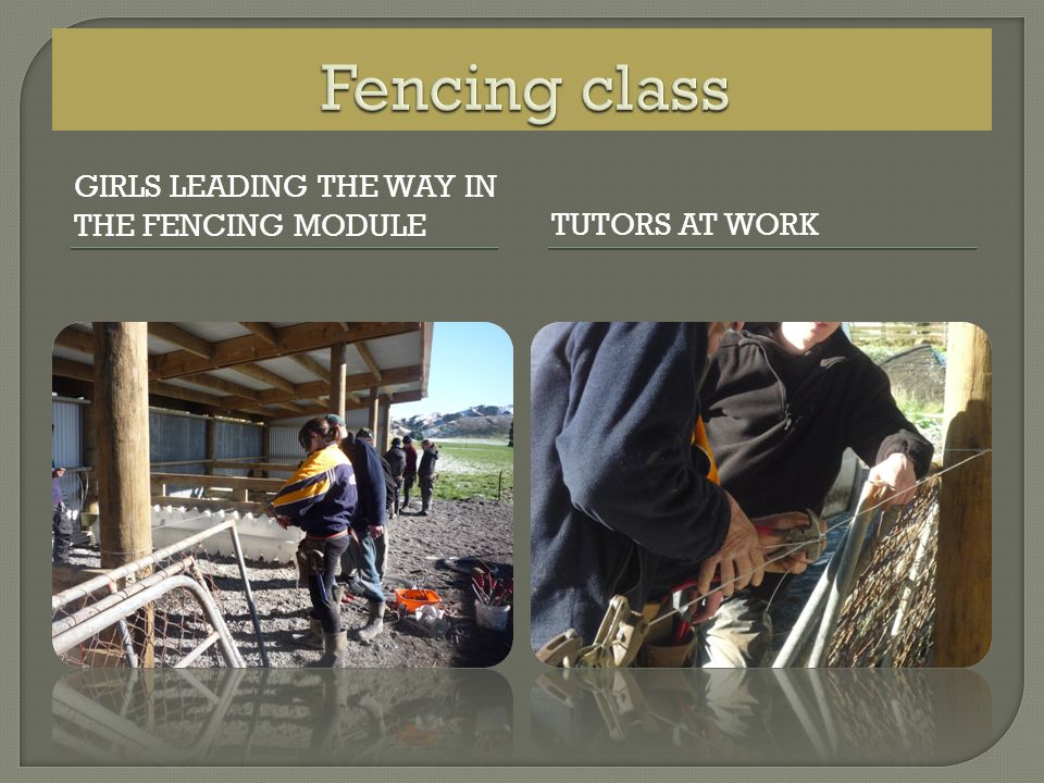 GIRLS LEADING THE WAY IN THE FENCING MODULETUTORS AT WORK