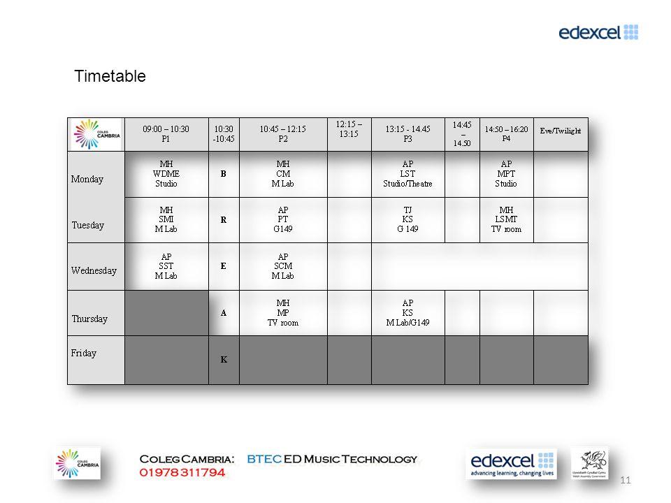 11 Timetable